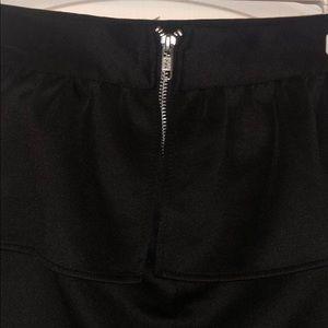 Charlotte Russe Skirts - Black Skirt w/peplum